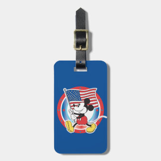 Holiday Mickey | Flag with Circle Luggage Tag