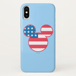 Holiday Mickey | Mouse Head Flag Icon iPhone X Case