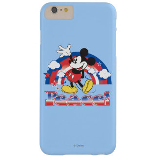 Holiday Mickey | Patriotic Peace Rainbow Barely There iPhone 6 Plus Case