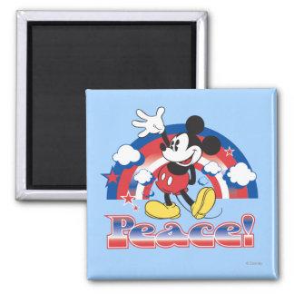 Holiday Mickey   Patriotic Peace Rainbow Magnet