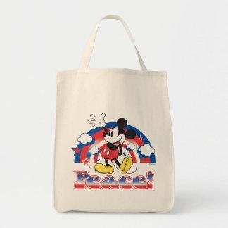 Holiday Mickey | Patriotic Peace Rainbow Tote Bag