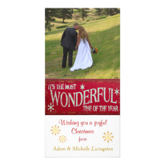 Holiday Most Wonderful Time Card