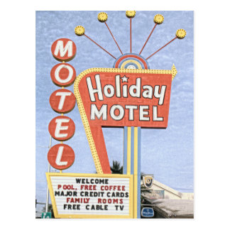 Holiday Motel  Las Vegas Postcard