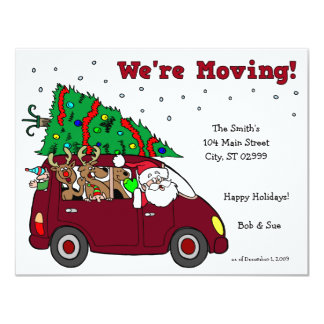 Holiday Moving Announcement - 4.25x5.5 cards