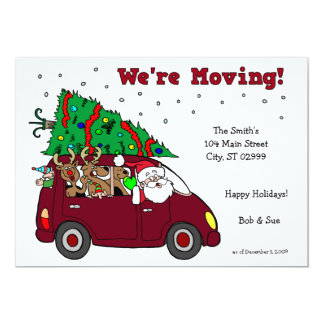 Holiday Moving Announcement - 5x7 cards