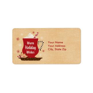 Holiday Mug Label