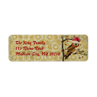 Holiday Mums Owl Address Label