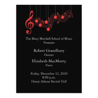 Holiday Musical Recital Program 17 Cm X 22 Cm Invitation Card