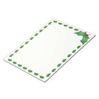 Holiday Notepad-Holly Notepad
