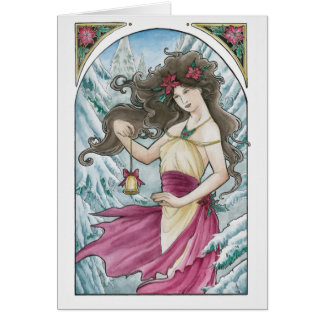 Holiday Nouveau Greeting Card