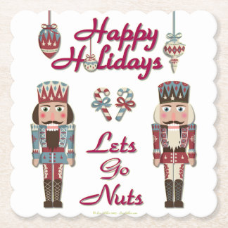 Holiday Nutcracker Lets Go Nuts Paper Coaster