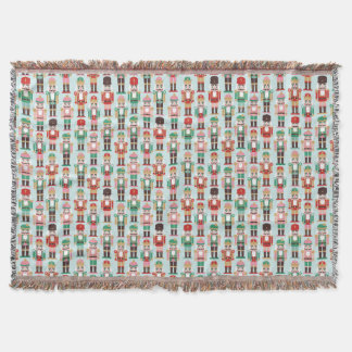 Holiday Nutcracker Throw Blanket