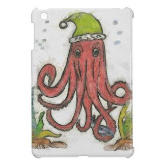 Holiday octopus iPad mini cover