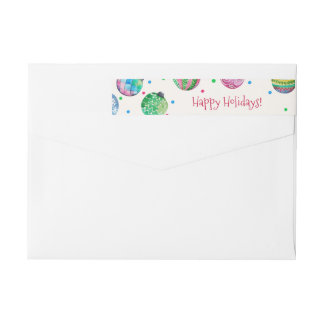 Holiday Ornament Christmas Wrap Around Label