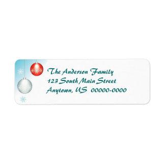 Holiday Ornament Return Address Avery Label Return Address Label