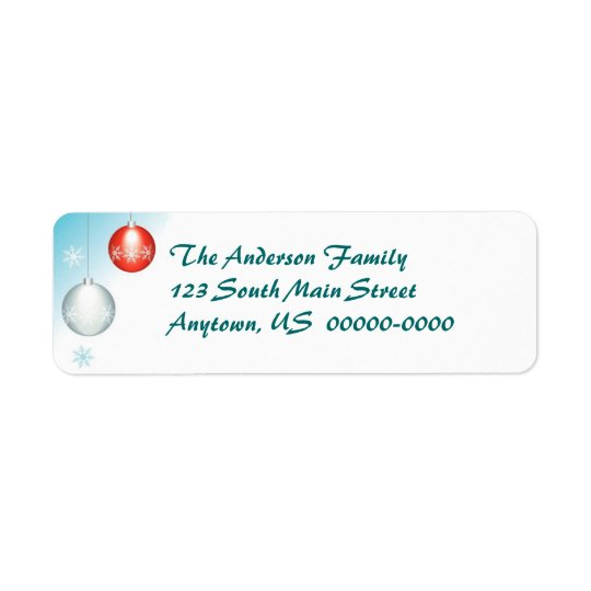 Holiday Ornament Return Address Avery Label
