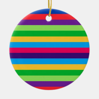Holiday Ornament with Colorful Stripes