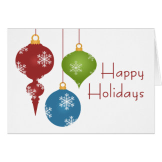 Holiday Ornaments Christmas Cards