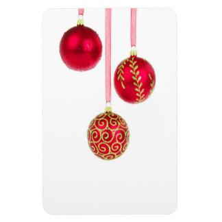 Holiday Ornaments Rectangular Photo Magnet