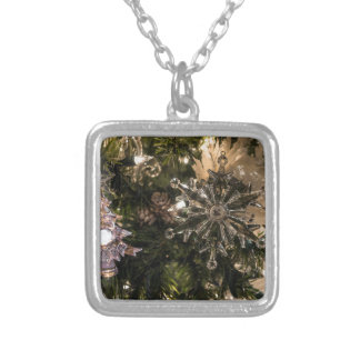 Holiday Ornaments Silver Plated Necklace