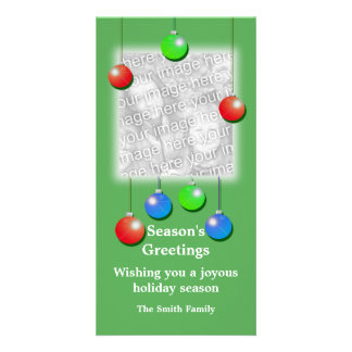 Holiday Ornaments (tall) Custom Photo Card