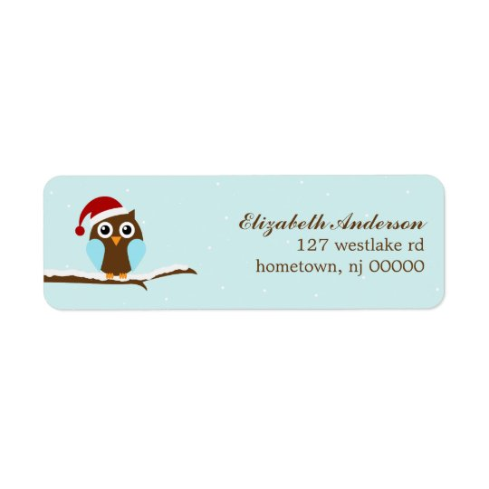Holiday Owl Address Labels