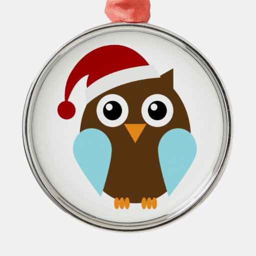Holiday Owl Customizable Ornaments