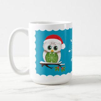 Holiday Owl Mug 15 oz
