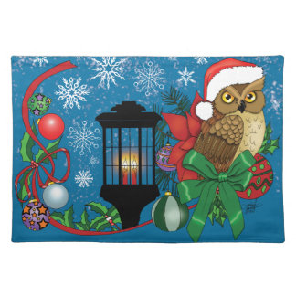 Holiday Owl Placemat