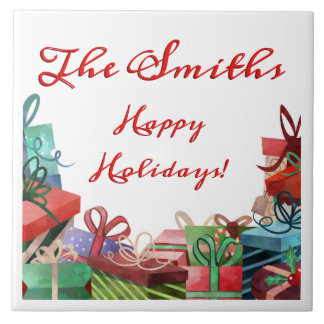 Holiday Package Personalized Tile