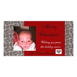 Holiday Paisley Photo Card