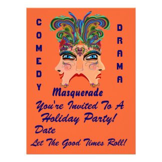 """Holiday Party 6.5"""" x 8.75""""  Please View Note Large Custom Announcements"""