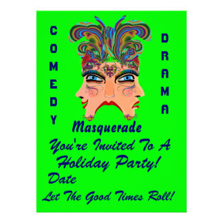 """Holiday Party 6.5"""" x 8.75""""  Please View Note Large Custom Invite"""