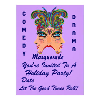 """Holiday Party 6.5"""" x 8.75""""  Please View Note Large Custom Invitations"""