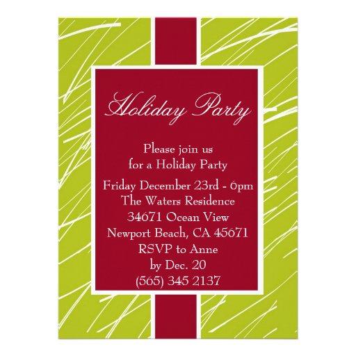 Holiday Party Customized invitation