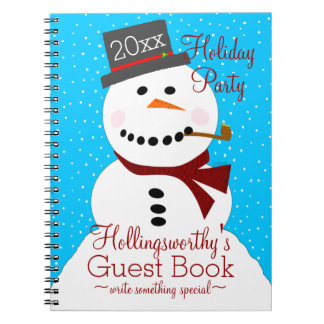 Holiday Party Guest Book - Snowman