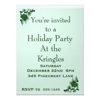 "Holiday Party 6.5"" X 8.75"" Invitation Card"