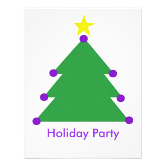 Holiday party custom announcement