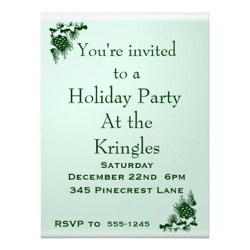 Holiday Party Custom Announcements