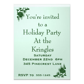 Holiday Party 6.5x8.75 Paper Invitation Card