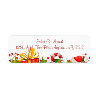 Holiday Party Invitation Return Labels