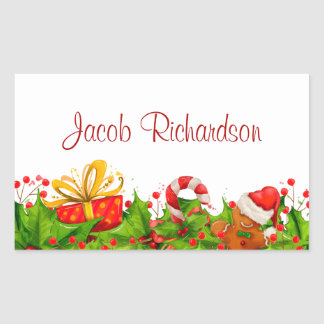 Holiday Party Invitation Stickers