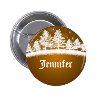 Holiday Party Name Tags Gold 6 Cm Round Badge