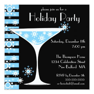 Holiday Party Snowflake Cocktail Invitation