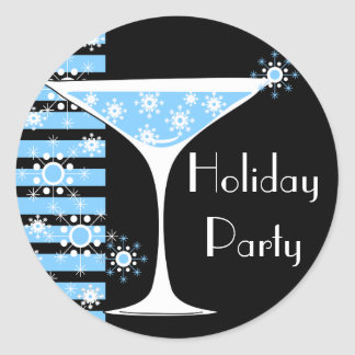 Holiday Party Snowflake Cocktail Sticker