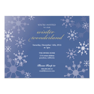 Holiday Party Snowflake Invite