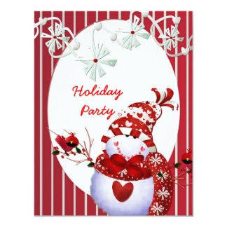 Holiday Party Snowman TEMPLATE Invitations