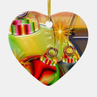 Holiday Party Winter Stocking Destiny Gifts Double-Sided Heart Ceramic Christmas Ornament