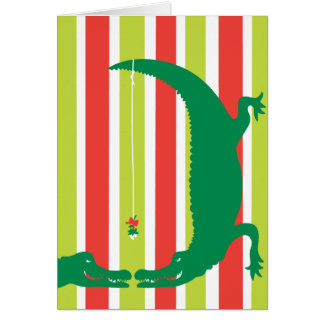 Holiday Passion with Stripes Greeting Cards