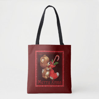 Holiday Patches Christmas Tote Bag